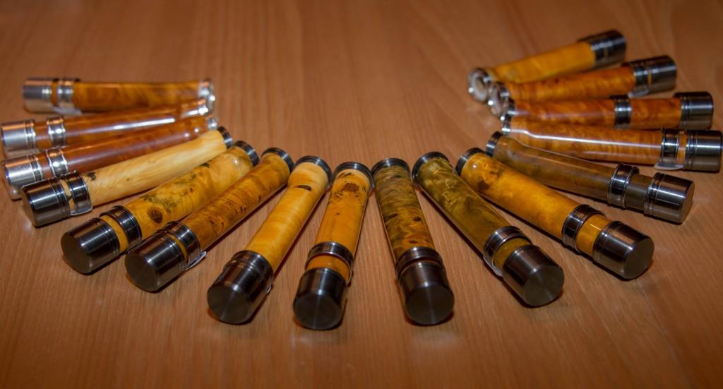 Porte moulinets en bois serrage à bagues